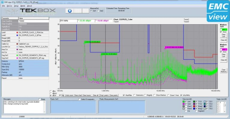 NOTE: Software limitation without a license: the measurement is limited to the frequency range below 10MHz